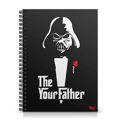 Caderno Universitário Capa Dura 1x1 - Geek Side - The Your Father
