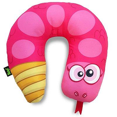 Almofada de Pescoço Cobrinha Cascavel - rosa