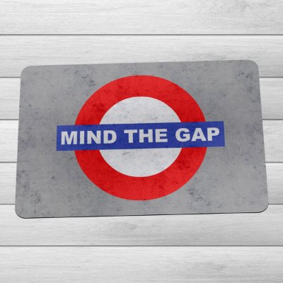 Capacho Eco Slim 3mm Londres Mind The Gap