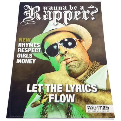 Caderno Wanted Wanna Be a Rapper