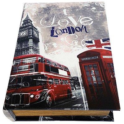 Caixa Livro Decorativa Love London - 25 x 18 cm