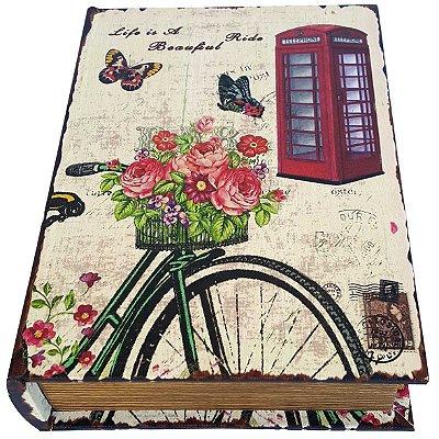 Caixa Livro Decorativa Paris Ride Beautiful - 25 x 18 cm