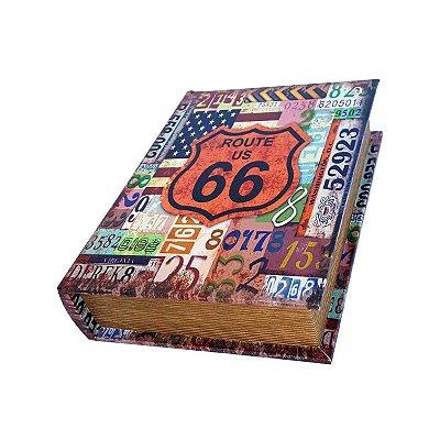 Caixinha Livro Decorativa Route US 66 - 18 x 13 cm