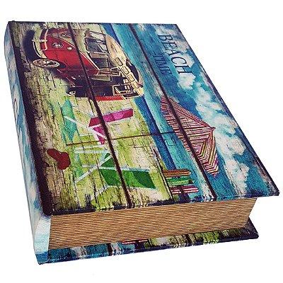 Caixa Livro Decorativa Kombi Beach Time - 25 x 18 cm