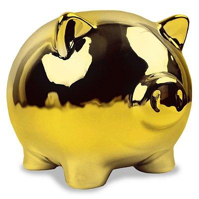 Cofre Porquinho - dourado