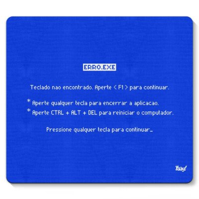 Mouse pad Tela Azul Teclado não encontrado