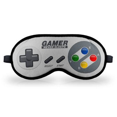 Máscara de Dormir em neoprene - Joystick Gamer Never Sleeps