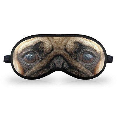 Máscara de Dormir em neoprene - Cãozinho Pug