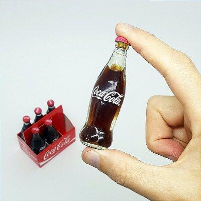 Set com 6 Mini Garrafas Coca-Cola