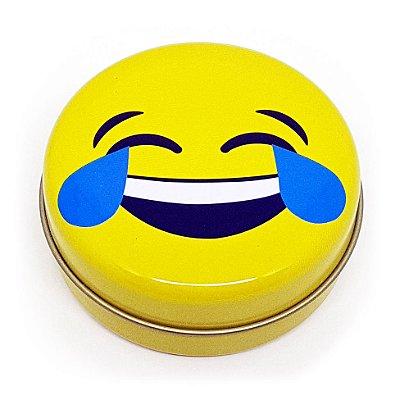 Latinha Emoticon - Emoji Chorando de rir