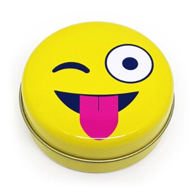 Latinha Emoticon - Emoji Mostrando a Língua