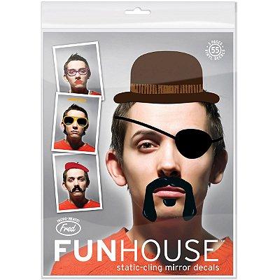 Adesivos para espelho Fun House - 55 adesivos