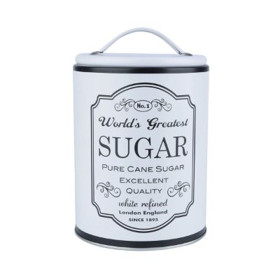 Lata Round Frame Sugar - branca