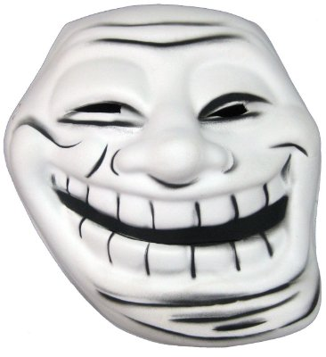 Máscara meme Troll Face