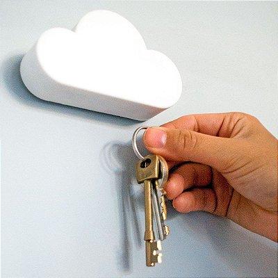 Porta Chaves magnético Nuvem - Branco