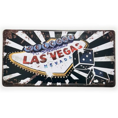 Placa de Metal Decorativa Welcome to Las Vegas