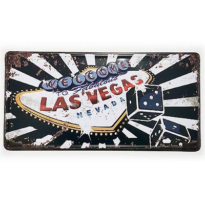 Placa de Metal Decorativa Welcome to Las Vegas