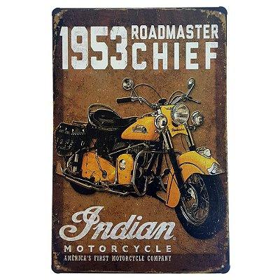Placa de Metal Decorativa 1953 Roadmaster Chief - 30 x 20 cm