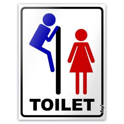 Placa Toilet Voyeur - 15 x 20cm