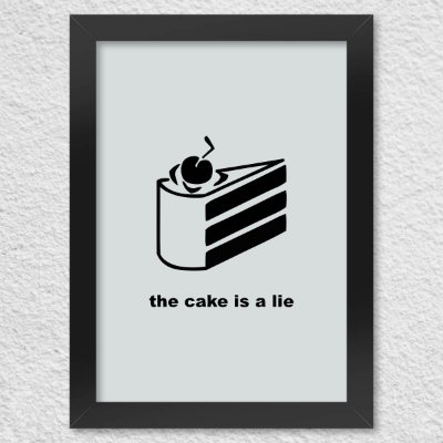 Poster com Moldura Gamer Portal The Cake is a Lie
