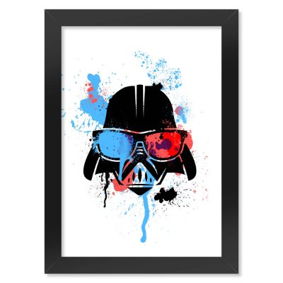 Poster com Moldura Geek Side