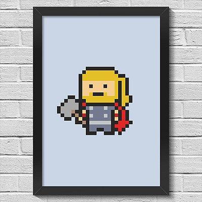 Poster A3 com Moldura PixelThor
