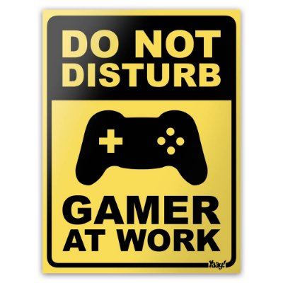 Placa Gamer at Work- 15 x 20 cm