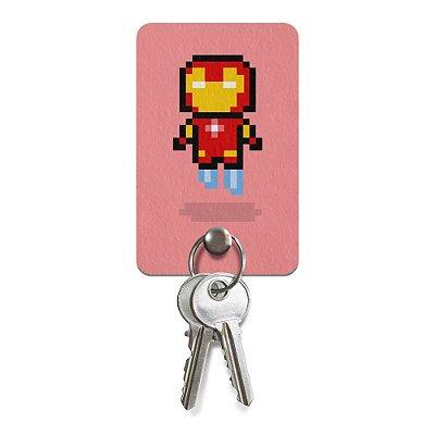 Porta Chaves Ecológico Iron Pixel Man