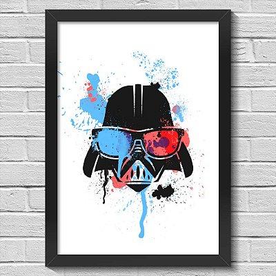 Poster A3 com Moldura Geek Side - Vader