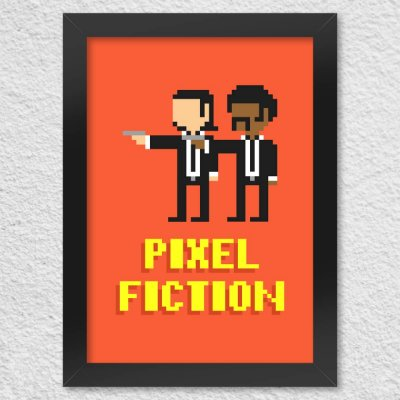 Poster com Moldura Pixel Fiction