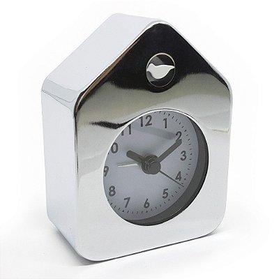 Relógio de mesa Despertador House Style - cromado