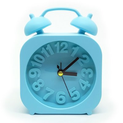 Relógio de mesa com despertador - azul