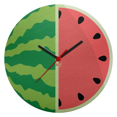 Relógio de Parede Ecológico Melancia