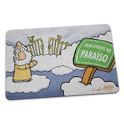 Capacho Eco Slim 3mm USQ Um Sábado Qualquer Bem vindo ao paraíso