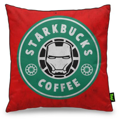 Almofada Geek StarkBucks Coffee aparência Suja