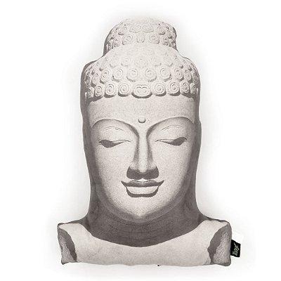Almofada em suede Buda Head
