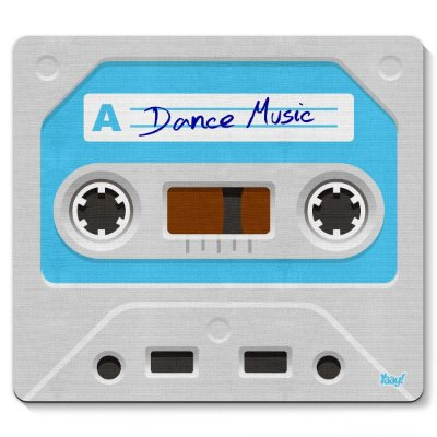 Mouse pad Fita Cassete Dance Music