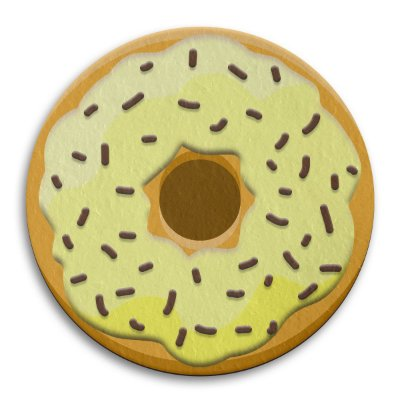 Porta Copo Ecológico Imã Donut - Creme