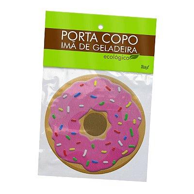 Porta Copo Ecológico Imã Donut - Morango