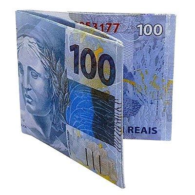 Carteira Slim Dinheiro Nota de 100 Reais
