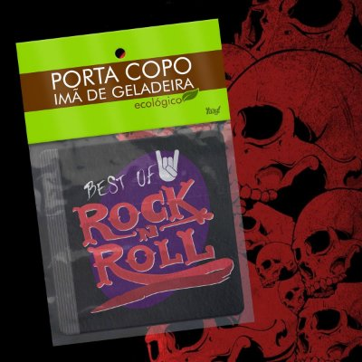 Par de Porta Copo Ecológico Imã Best of Rock - CD