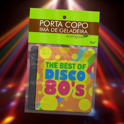 Par de Porta Copo Ecológico Imã Best of Disco 80s - CD