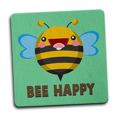 Porta Copo Ecológico Imã Abelha Bee Happy