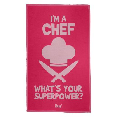 Pano de Prato Im a Chef Whats your superpower - rosa
