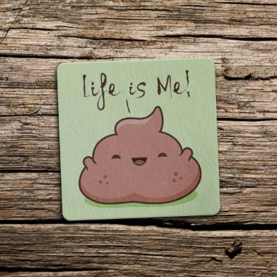 Porta Copo Ecológico Imã Life Is Me