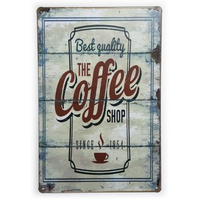 Placa de Metal The Coffee Shop Since 1954 - 30 x 20 cm