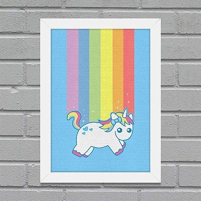 Quadro Unicórnio Arco-íris