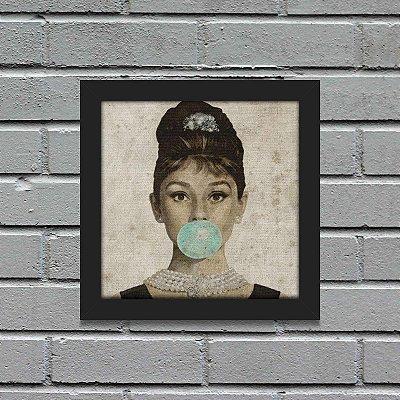 Quadro Retrô Audrey Hepburn