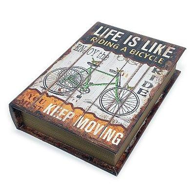 Caixa Livro Decorativa Bicycle - 25 x 18 cm