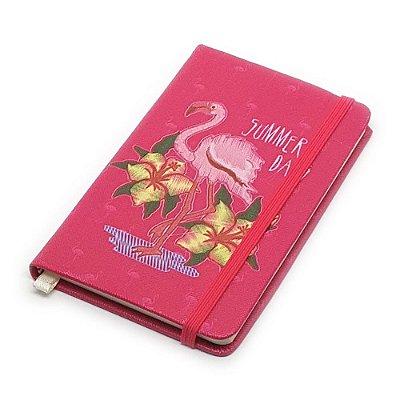 Caderneta de Anotação Flamingo Summer - rosa